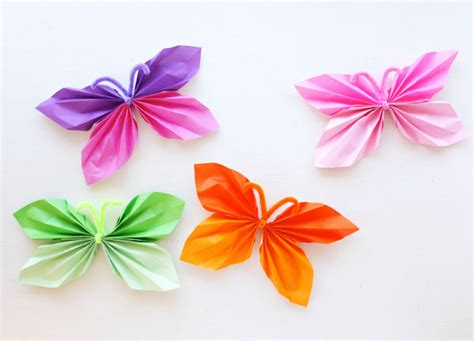 Make Paper Butterflies - how to paper butterfly garland my poppet makes