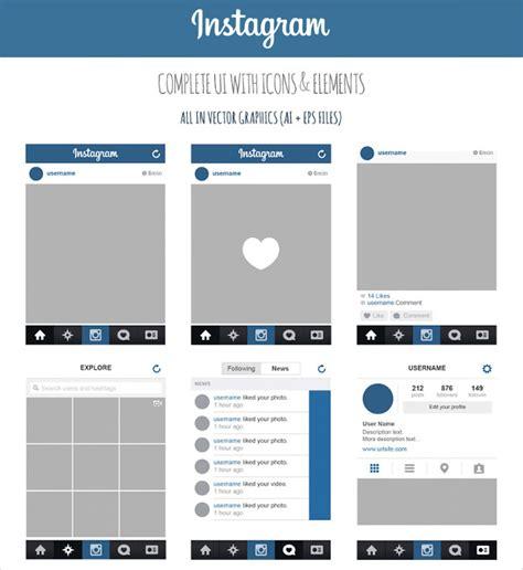 design instagram 23 app ui designs psd download design trends premium