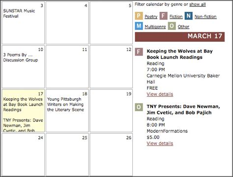 The Lit Calendar by Pittsburgh S New Literary Calendar Ssonia Way Magazine