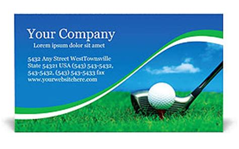 golf business card templates free archives thegreenmanager
