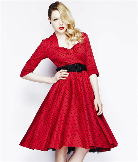 Rotes Swing Kleid by Damen Rotes Kleid 50s Rockabilly Swing Kleid Hell Bunny