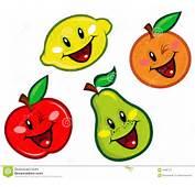 Caracteres Felices De Las Frutas Imagen Archivo