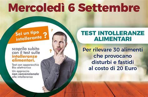 test intolleranze alimentari test intolleranze alimentari farmacia stornelli