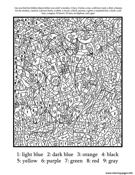 coloring pages by numbers for adults really hard difficult color by number for adults coloring
