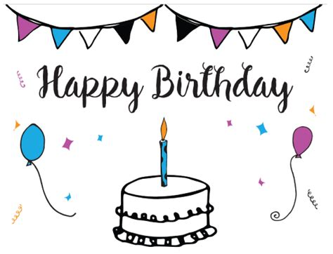 hello happy birthday card template free printable birthday card template
