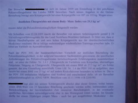 Bewerbung Absage Feedback Absage F 252 R Den Gehobenen Polizeidienst Des Landes Nrw