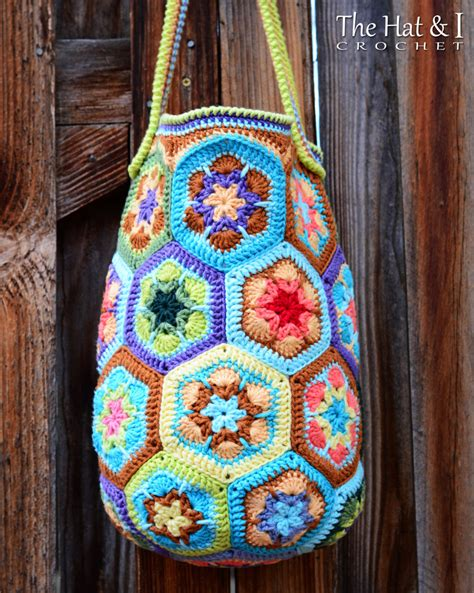african flower crochet pattern bag crochet pattern boho bag an african flower crochet bag
