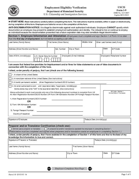 i 9 form printable version form i 9 wikipedia