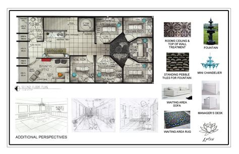 spa floor plan portfolio by carolann bond at coroflot com