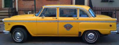 Taxi Cab Just A Car Last Of The Checker Taxi Cabs 1n11 Also