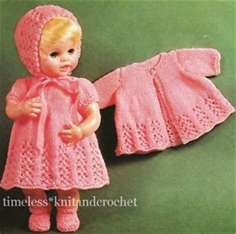 free baby dolls clothes knitting patterns vintage knitting pattern baby doll clothes hat dress