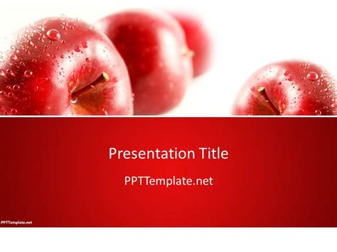 apple ppt template free cherry ppt template