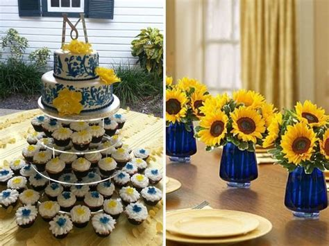Inspirations for Blue and Yellow Wedding Colors   Wedding