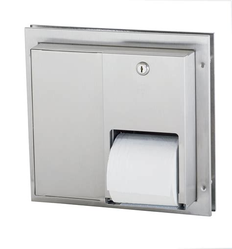 Dispenser Tissue partition mounted stainless steel toilet tissue dispenser