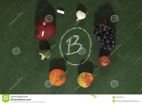 fruit b vitamins vitamin b fruits and vegetables royalty free stock images