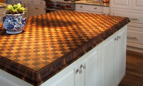 cherry and walnut butcherblock island countertop by