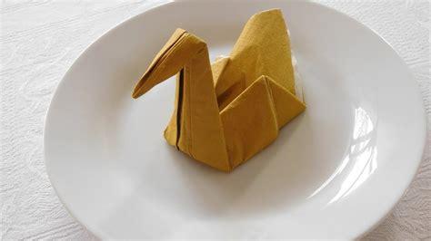 Swan Paper Napkin Folding - swan napkin folding how to make a swan napkin easy