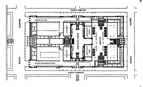 Newark Penn Station Floor Plan by Penn Station Floor Plan File Pennsylvania Station New York