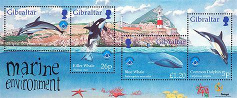 Gibraltar 1998 Marine Enviroment Ms marine environment sts 1998 gibraltar philatelic