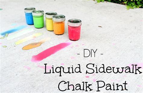 sidewalk chalk paint diy 17 best images about jar crafts on