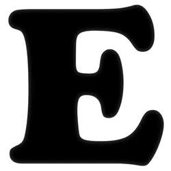 Alphabet Wall Mural bc 6 inch e black letter at home at home