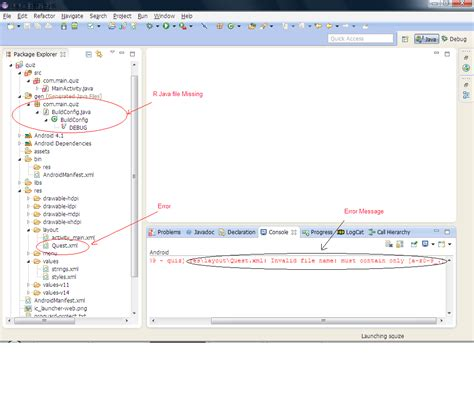 layout folder names coding and error solved r java file missing in eclipse