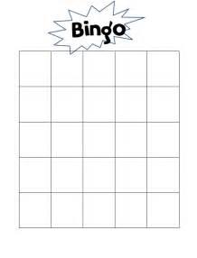 Blank Bingo Template by Blank Bingo Templates To Customize Search Results