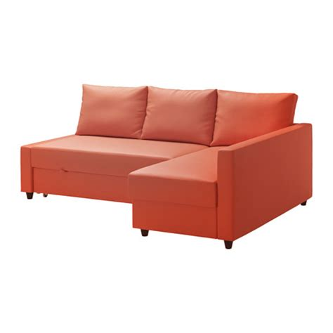 orange ikea couch friheten sofa bed with chaise skiftebo dark orange ikea