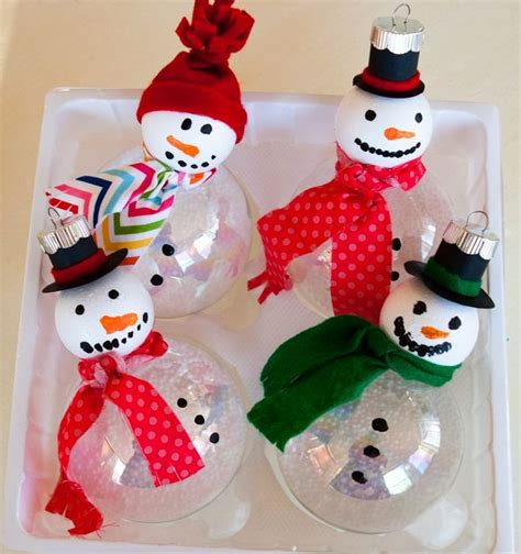 Handmade Snowmen - crafts ornaments for