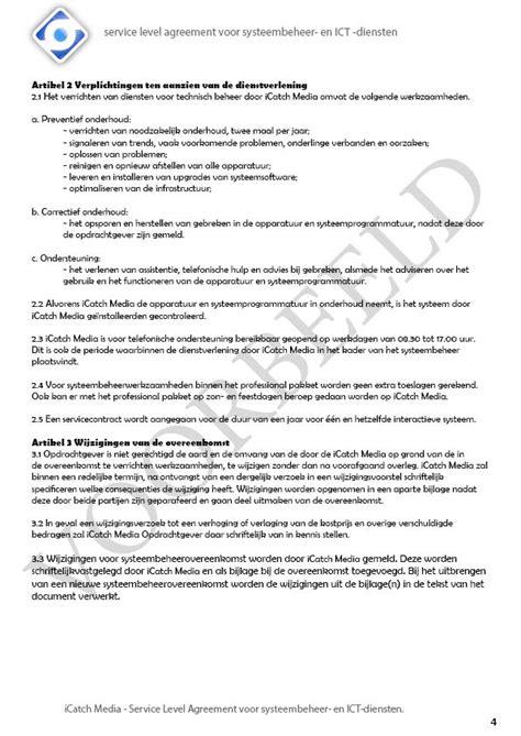 service level agreement 171 icatch media interactieve