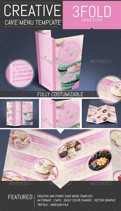 cupcake menu card template 11 best images about por flyer ideas on