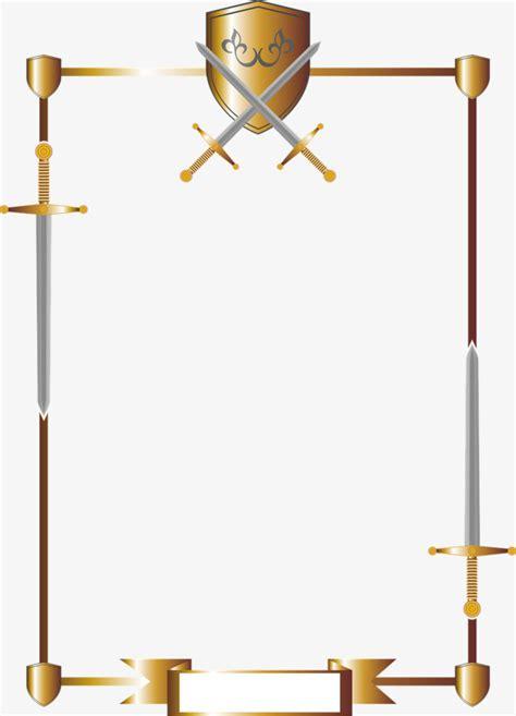 cornici medievali border sword and shield consisting sword clipart shield