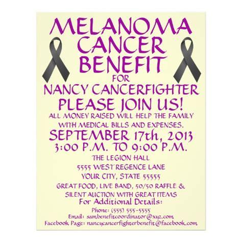 Melanoma Cancer Patient Benefit Flyer Zazzle Cancer Benefit Flyer Template