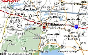 map of tallahassee florida and surrounding areas area map