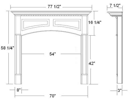 Fireplace Mantel Dimensions by Wood Fireplace Mantels Mantel Surrounds