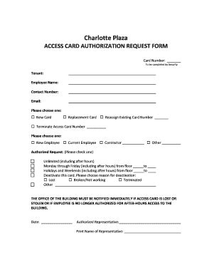 access card form template access card form fill printable fillable blank