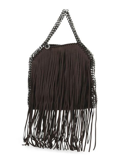Stella Mccartney Felt And Plastic Bag by Falabella Mini Fringed Tote By Stella Mccartney Totes