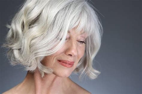 gray hair bob haircuts silver wavy bob gray hair pinterest bobs silver