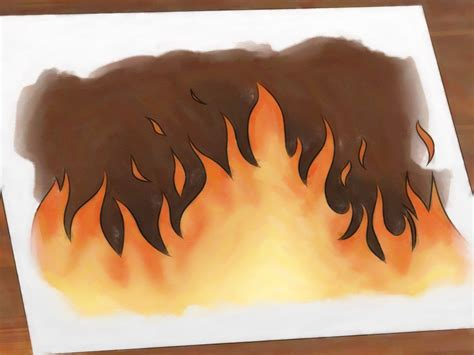 Fire Place by How To Draw Flames 14 Steps With Pictures Wikihow