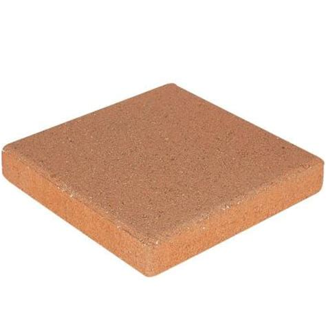 decorative stepping stones home depot pavestone 12 in x 12 in terra cotta concrete step stone