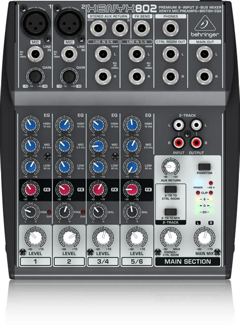 Mixer Xenyx 802 802 analog mixers mixers behringer categories