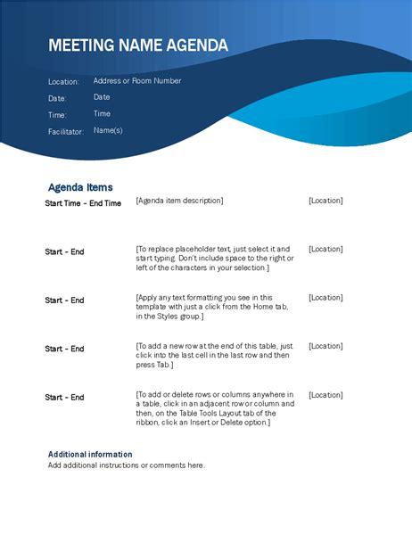 Agendas Office Com Agenda Template