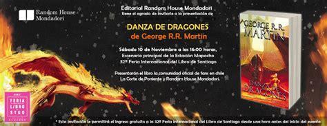 danza de dragones 8496208877 danza de dragones lanzamiento en feria de santiago 2012 literatura fant 225 stica