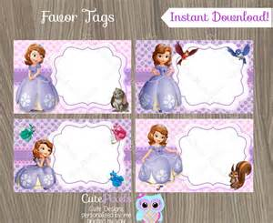 princess sofia template princess sofia favor tags sofia the name tags sofia