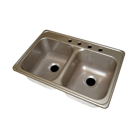 Acrylic Kitchen Sink Reviews Lyons Industries Dks Deluxe Dual Basin Acrylic Kitchen Sink