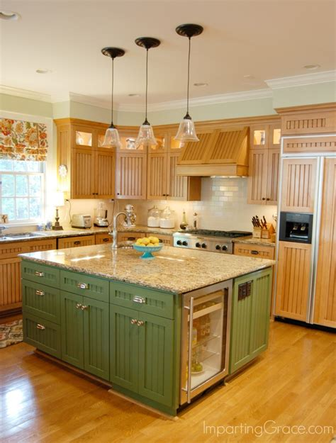 Green Kitchen Islands by Imparting Grace Kitchen Island Makeover