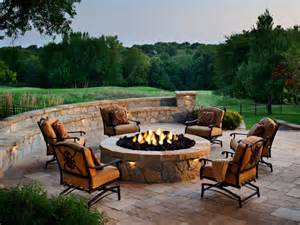 rustic style fire pits hgtv