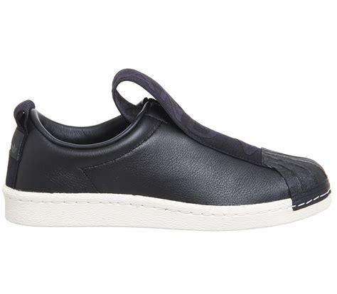 Sepatu Adidas Superstar Bw35 Slip On Black Grade Premium 37 40 womens adidas superstar bw35 slip on black white trainers shoes ebay