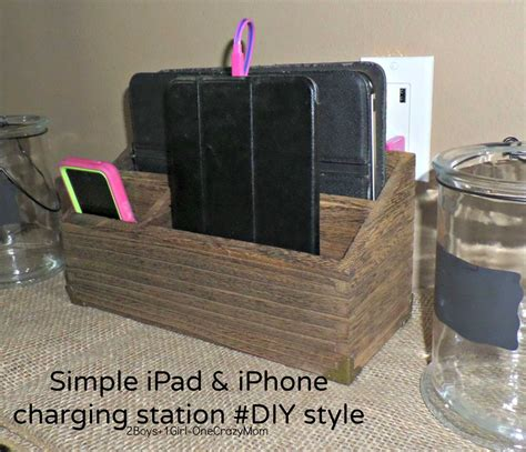 create a charging station create a simple diy iphone and ipad charging station to