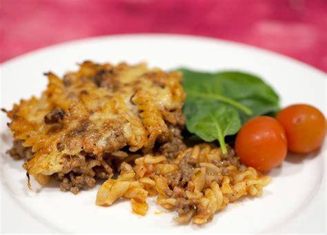 beef  bacon pasta bake  organised housewife